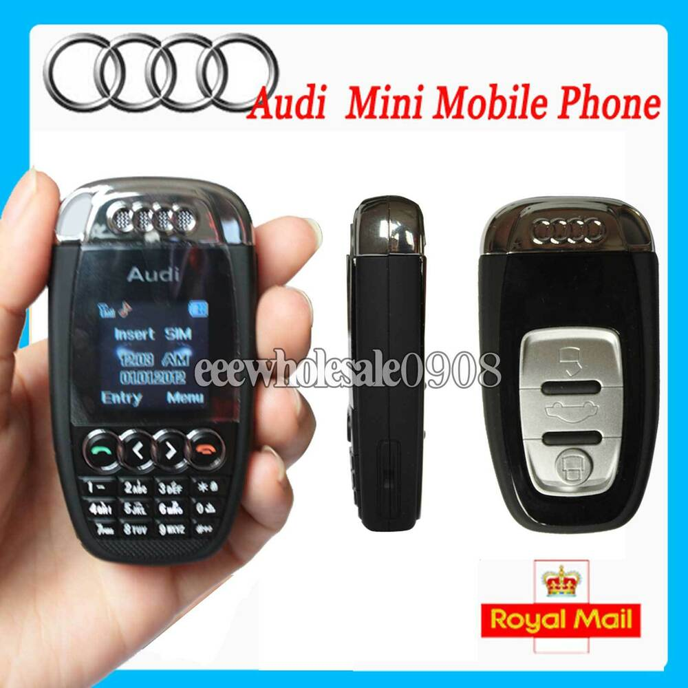 Blk Mini Audi Unlocked Car Key Fob Mobile Phone Cellphone