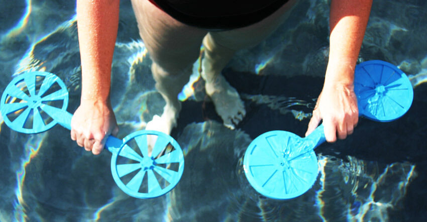 Water gear hand paddles swim exercise fitness rehab - Exercise equipment for swimming pools ...