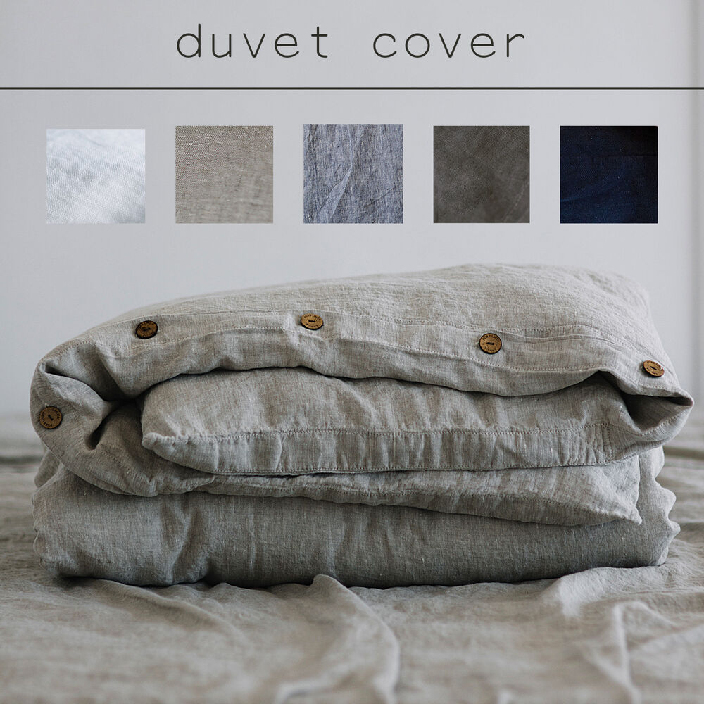 100 pure linen french linen duvet cover full double twin queen king ebay. Black Bedroom Furniture Sets. Home Design Ideas
