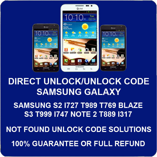 unlock code for samsung galaxy s4 i337 m919 s2 t989 att tmobile roger