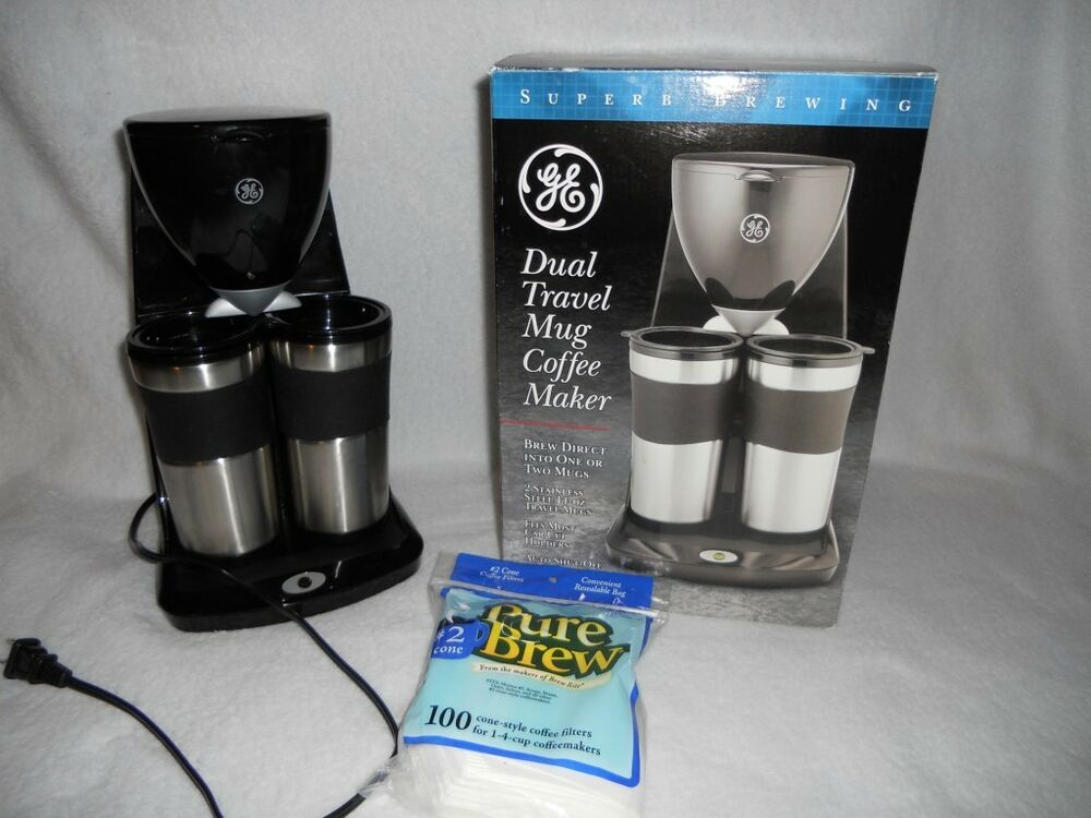 Ge Dual Travel Mug Coffee Maker Ebay