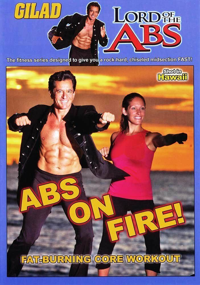 GILAD LORD OF THE ABS ABS ON FIRE DVD NEW SEALED ABDOMINAL