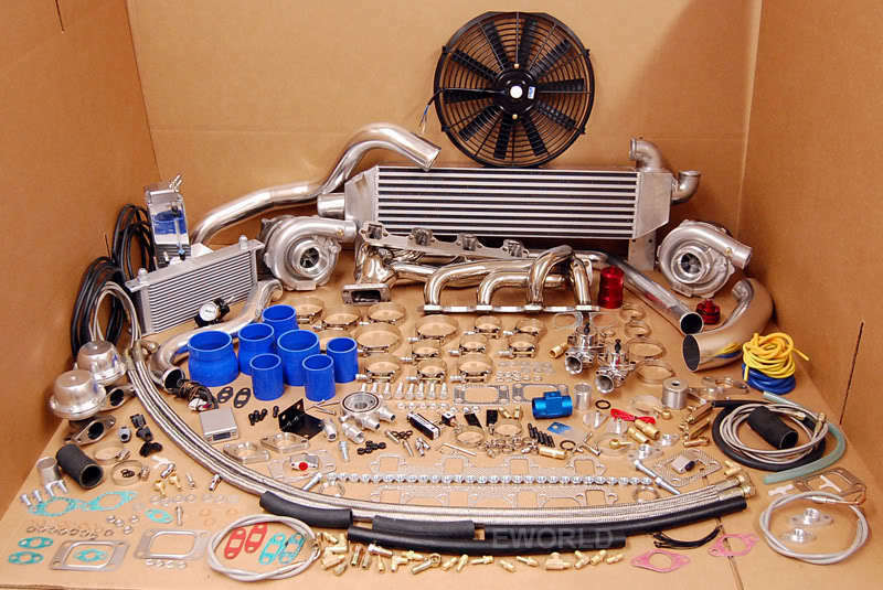 1000HP 1979 - 1993 FORD MUSTANG Twin Turbo Kit Package TT ...