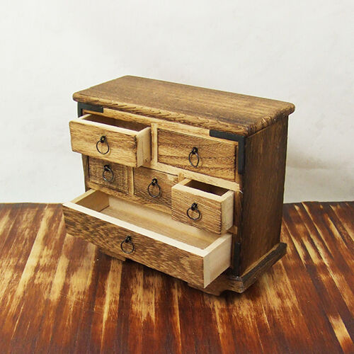 Japanese Dollhouse Miniature Furniture Wheelchest 1 12