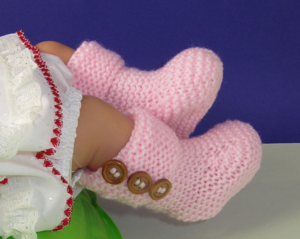 Baby Booties Knitting Pattern Easy : PRINTED INSTRUCTIONS-EASY BABY 3 BUTTON GARTER STITCH BOOTIES KNITTING PATTER...