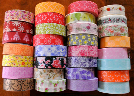 Washi tape floral flower 10m roll decorative sticky paper for Tape works decorative tape