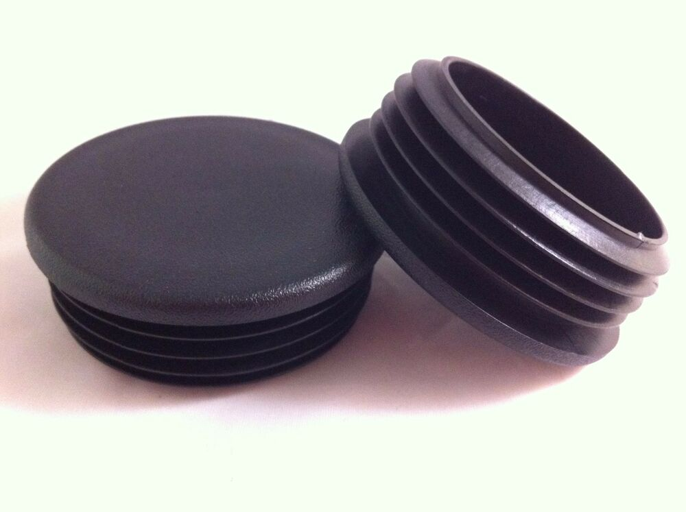 Black plastic blanking end caps cap round tube pipe plug
