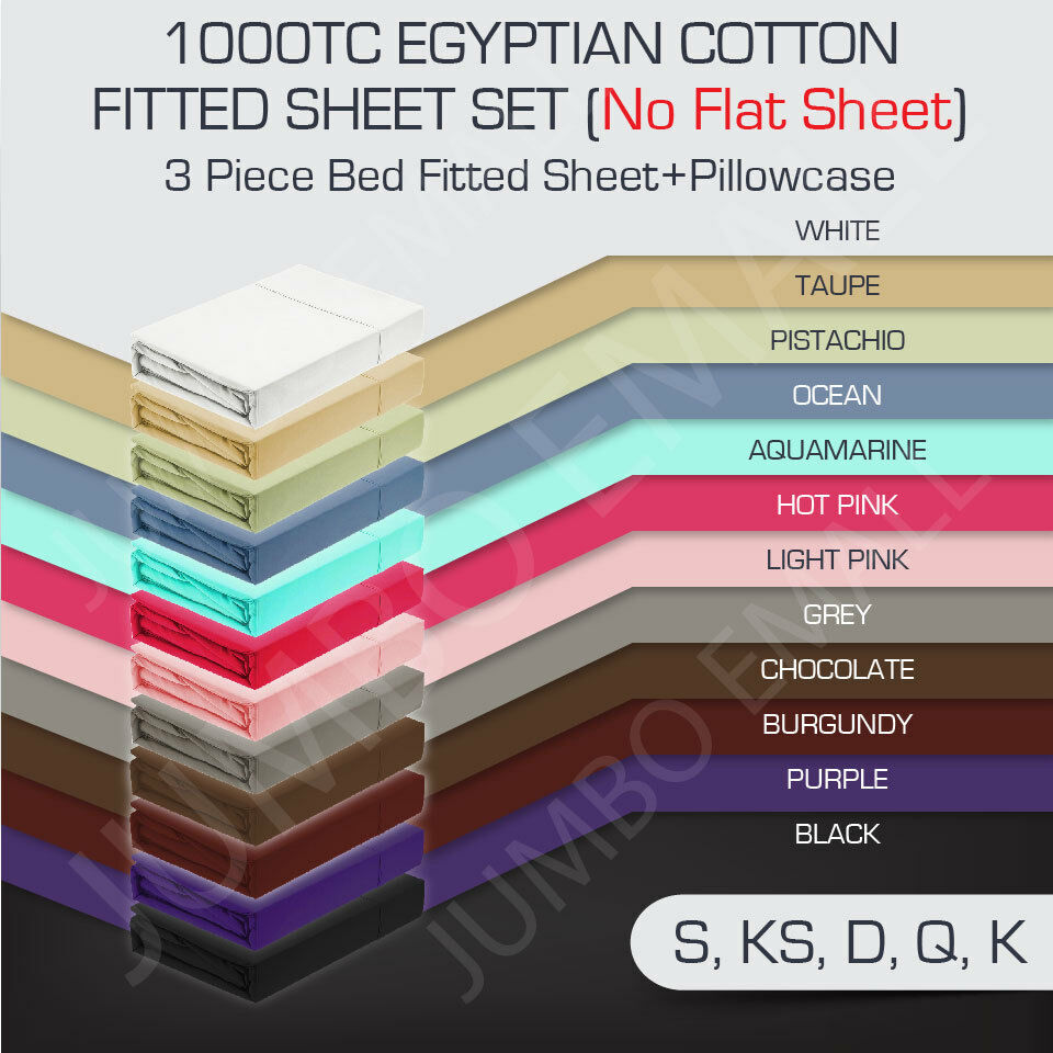 1000tc egyptian cotton 3 piece bed fitted sheet pillowcase How to put a fitted sheet on a bed