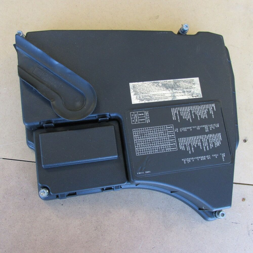bmw e38 740i 740il engine compartment fuse box relay cover