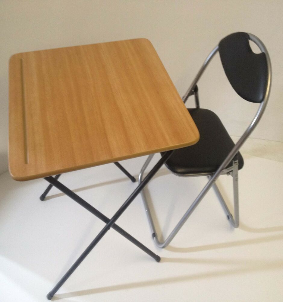 Folding Table Chair Portable Snack Lunch Laptop Coffee