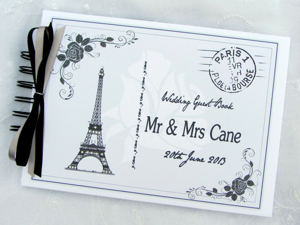 Personalised Vintage Paris Postcard Theme Wedding Guest