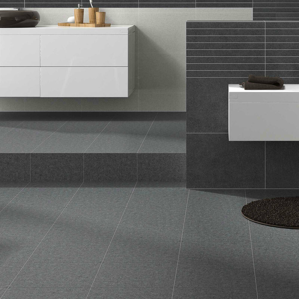 Modern stylish ceramic grey stone effect durable bathroom for Modern ceramic tile