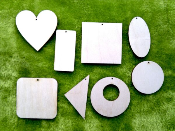 Large wooden shapes choice of size geometric heart laser cut crafts 3.5 mm thick