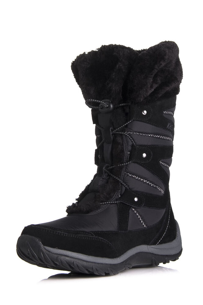Khombu Marker Snow Boots Black Winter Waterproof US Ski