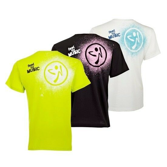 zumba fitness cosmic party t shirts unisex 3 pk 3. Black Bedroom Furniture Sets. Home Design Ideas
