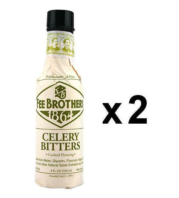 Fee Brothers Celery Cocktail Bitters – 5 oz - Pack of 2 - Zesty ...