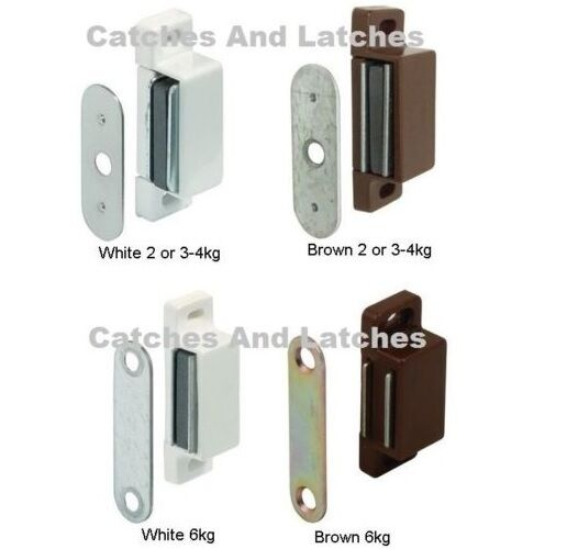 Kitchen Cabinet Magnets: MAGNETIC CATCHES KITCHEN CABINET CUPBOARD 2kg, 3-4kg 6kg