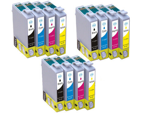 12 non oem ink cartridges fit for epson et t1285 multipack. Black Bedroom Furniture Sets. Home Design Ideas