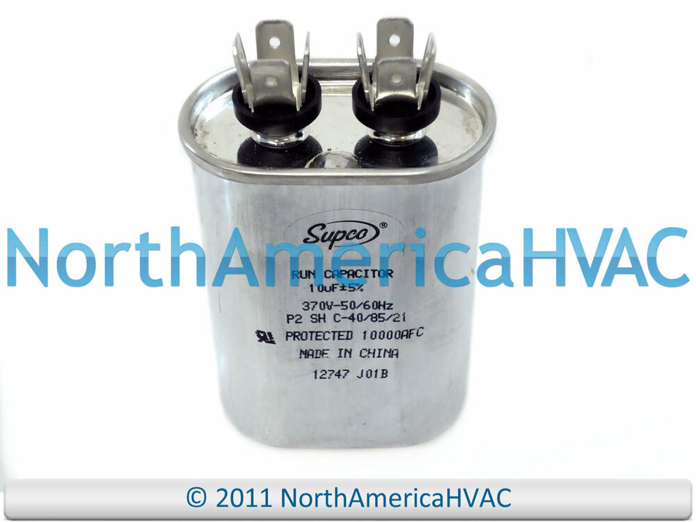 New supco oval single motor capacitor 10 uf mfd 370 vac for 370 volt 10 mfd motor run oval capacitor