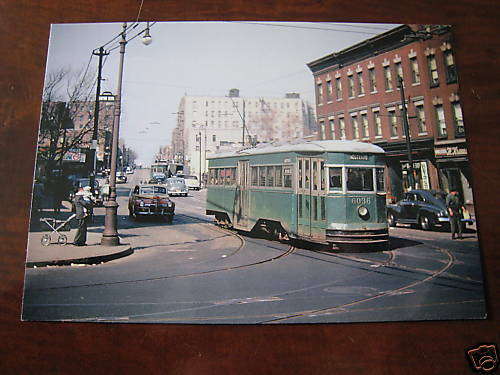 1947 Nostrand Brooklyn Crown Heights Trolley Post Card