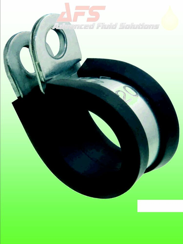 Epdm Rubber Lined P Clips Hose Pipe Clamp Cable Wiring
