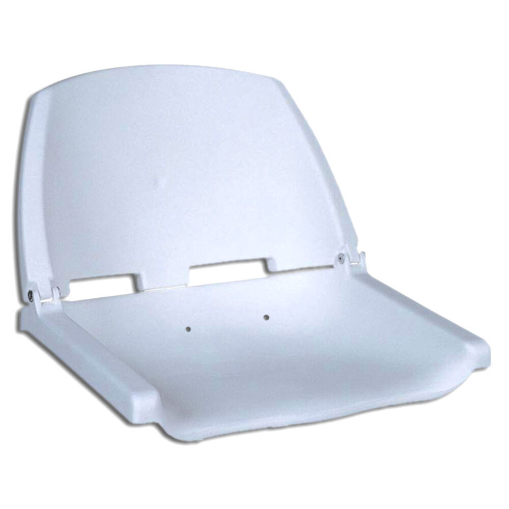 Fold down deluxe marine white seat for boat fishing