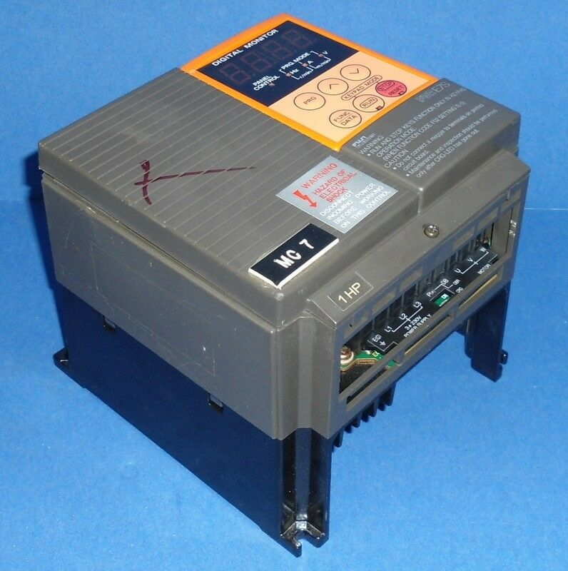 Fuji electric 1hp variable speed ac drive fvr008e7s 2ax ebay for Variable speed drive motor
