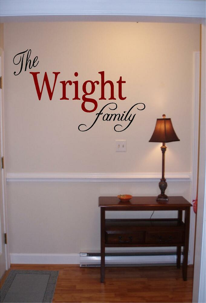 personalized family name wall art vinyl decal sticker. Black Bedroom Furniture Sets. Home Design Ideas