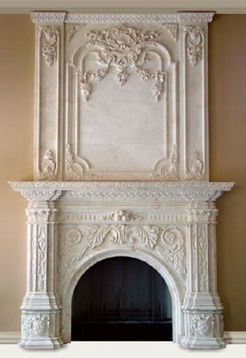 Beautiful Hand Carved Marble Fireplace Mantel Hl001 Ebay