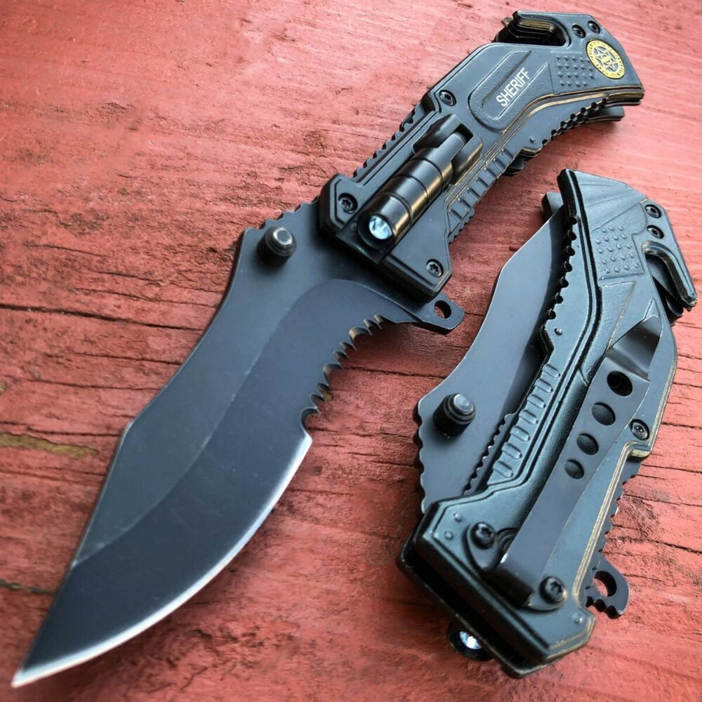 Mtech Usa Tanto Spring Assisted Tactical Folding Pocket Rescue Knife Open Gray Ebay