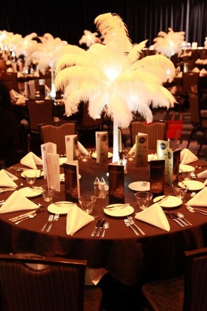 Feather centrepiece wedding party decorations events