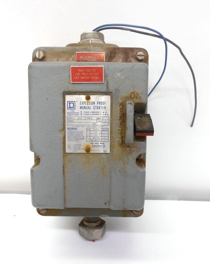 square d explosion proof manual starter class 2510 type