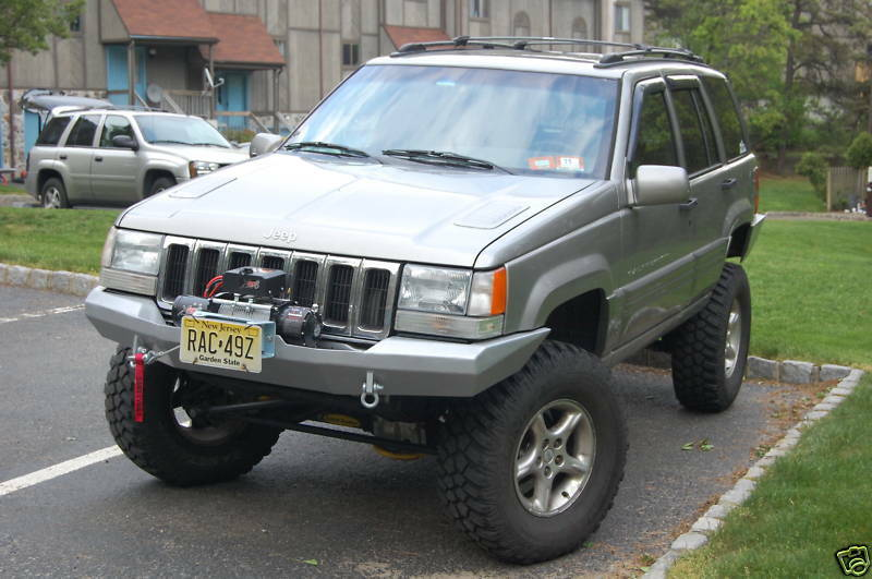 custom winch bumper for jeep grand cherokee zj 1993 1998. Black Bedroom Furniture Sets. Home Design Ideas