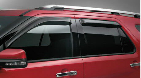 New Ford Explorer >> OEM NEW 11-13 Ford Explorer Window Vent Shade- Rain Visor Guards- Self Adhesive | eBay