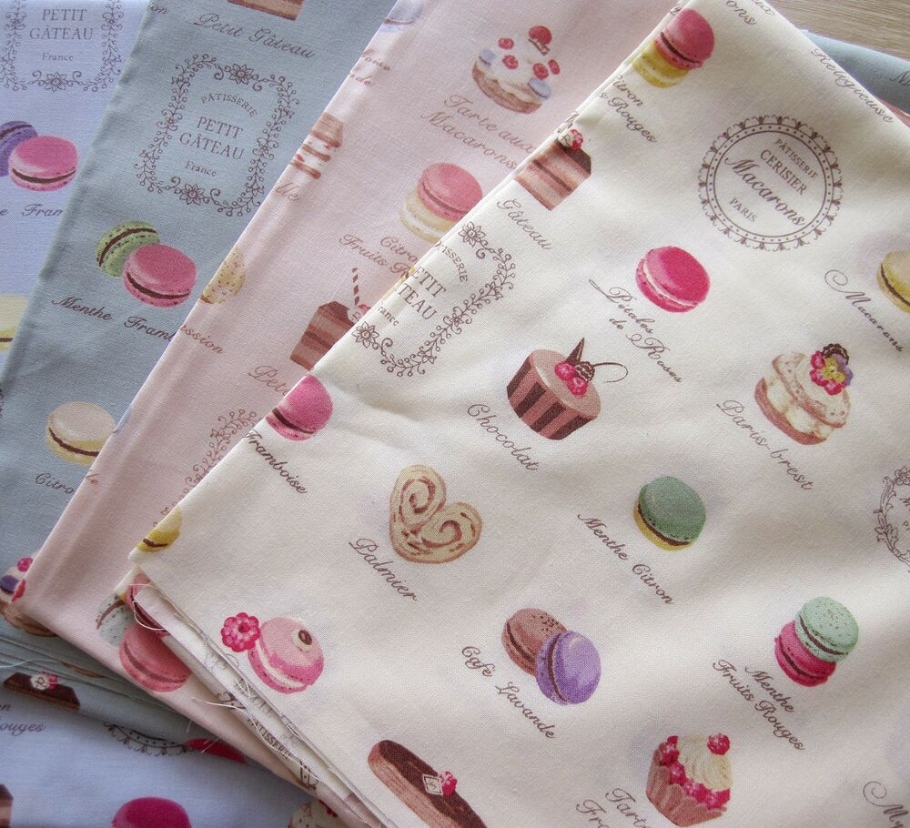1pc made in japan yuwa french dessert macaroon printed for Printed cotton fabric