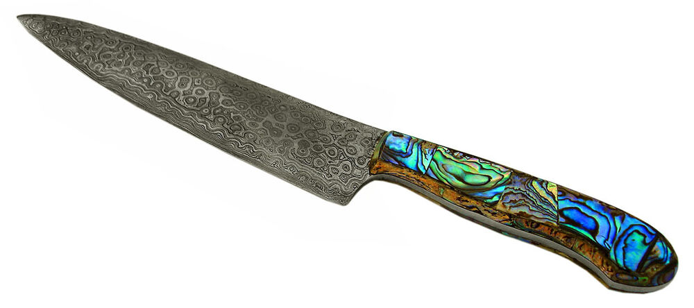handmade kitchen knives uk handmade damascus abalone chef knife cutlery knife kitchen knife ebay 9655