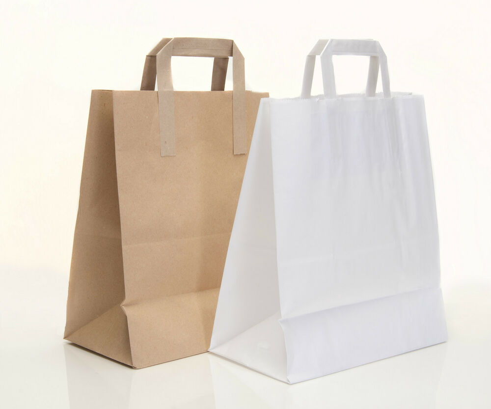 250 sos kraft paper carrier bags paper with handles