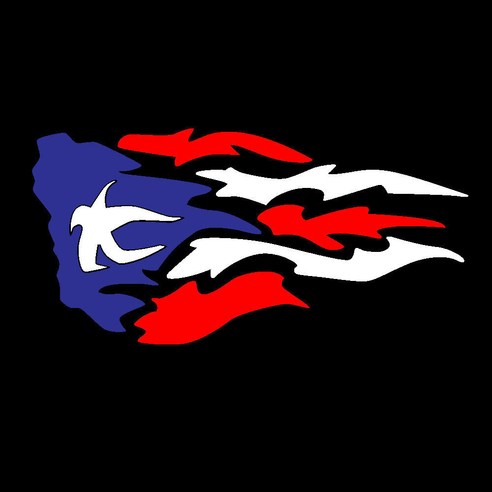 puerto rico car decal sticker fire with puerto rican flag