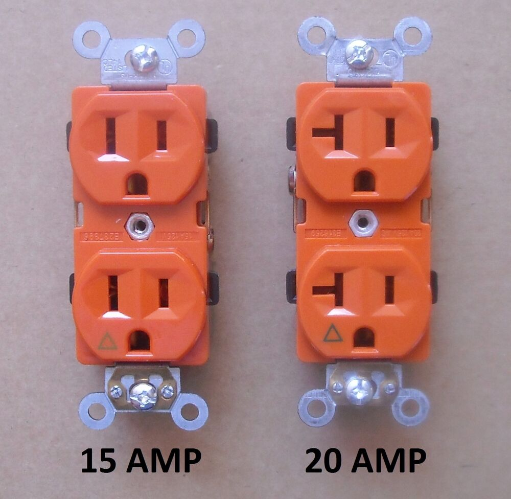 ISOLATED GROUND DUPLEX RECEPTACLE PLUG OUTLET 120V 15A 20A