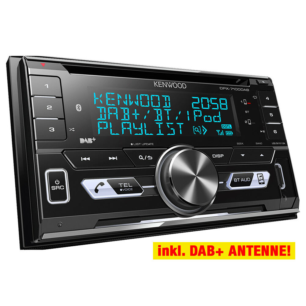 kenwood dpx7000dab doppel din kfz radio auto radio dab. Black Bedroom Furniture Sets. Home Design Ideas