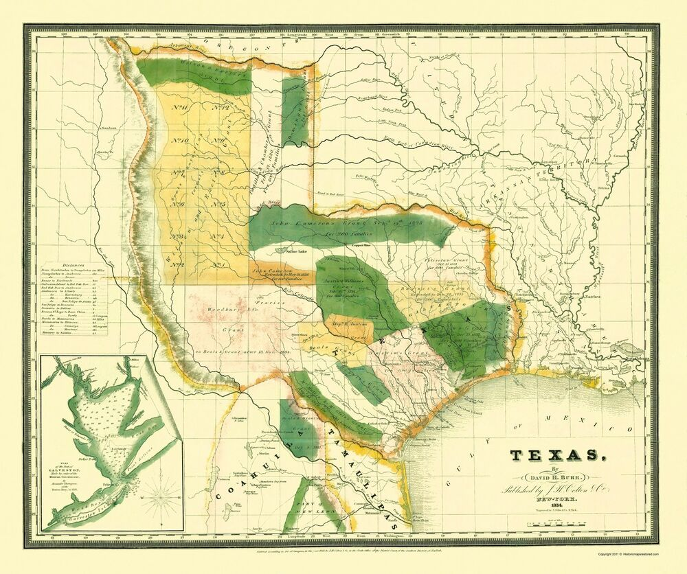 Old State Map  Texas  Burr 1834  23 X 2751  EBay