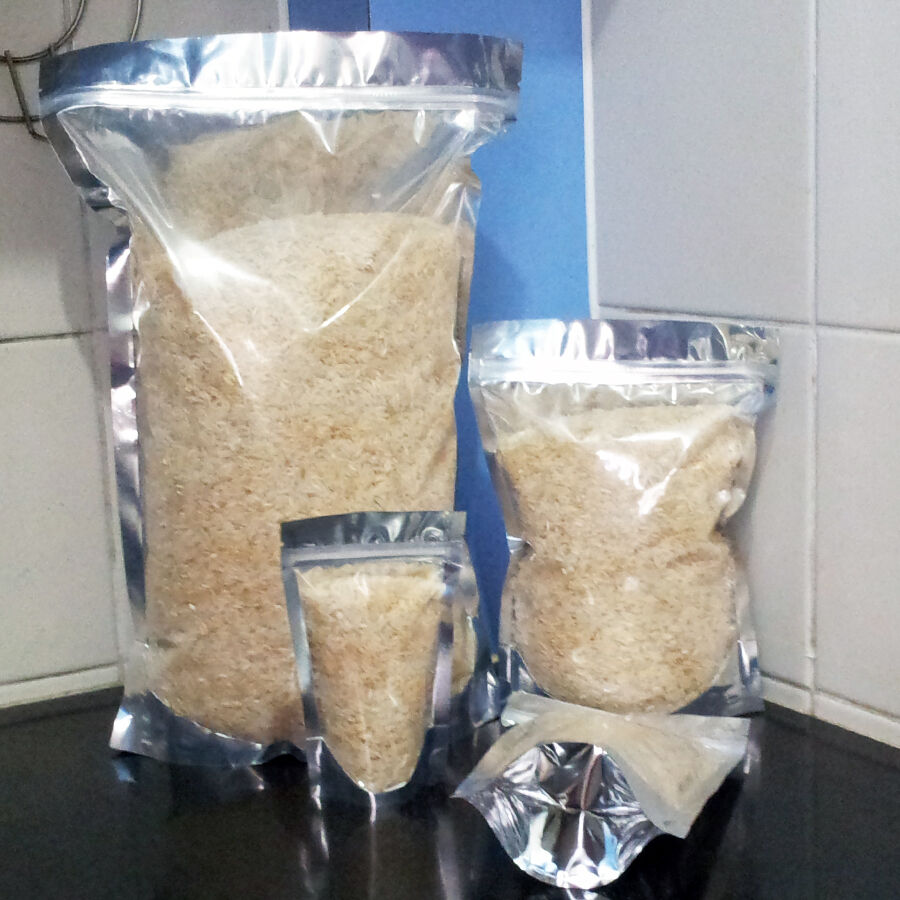 Sturdy mylar & clear stand-up food storage bag pouch long ...