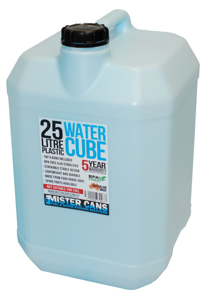 25l Plastic Water Container Can Cube Includes Tap Bpa