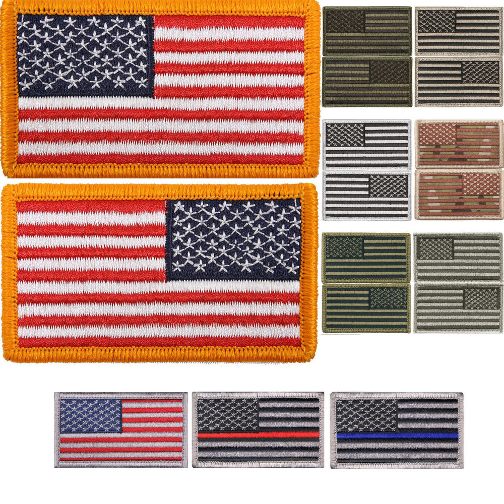 US Flag Tactical Patch American USA Hook   Loop Army Military Uniform  Patches  91a5d422016