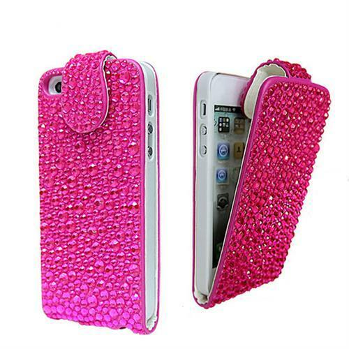 luxus strass bling flip case f r iphone 5 etui tasche. Black Bedroom Furniture Sets. Home Design Ideas