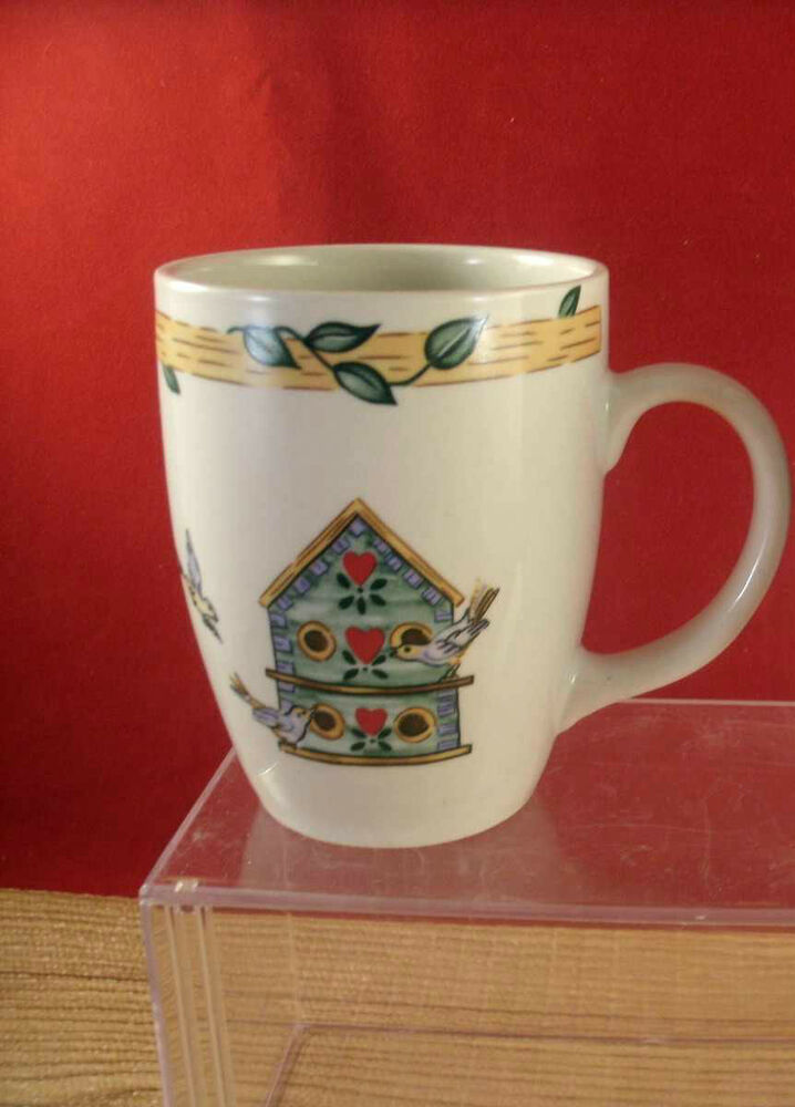 Thomson Pottery Ceramic Birdhouse Coffee Mug Mugs Cup Tea