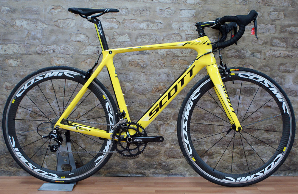 Men S L56 Scott Foil 30 Road Bike Yellow And Black Ebay