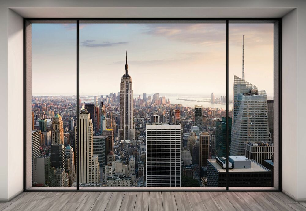 new york city wall mural photo wallpaper penthouse large size pap. Black Bedroom Furniture Sets. Home Design Ideas