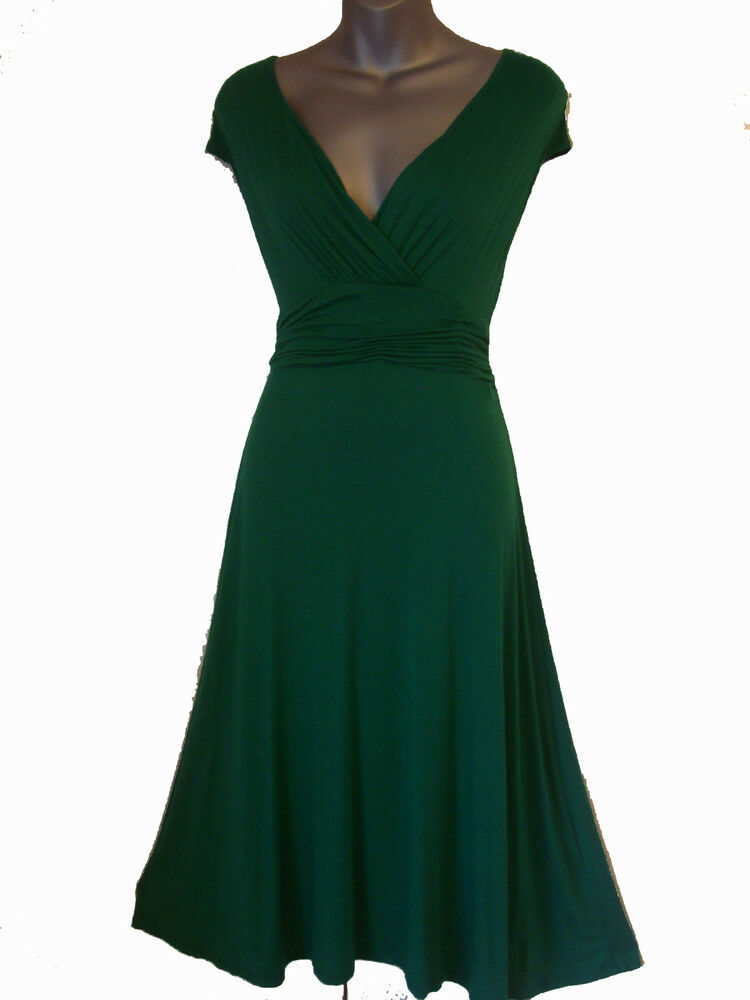 vintage style emerald green evening formal party dress sizes 8 20 ebay. Black Bedroom Furniture Sets. Home Design Ideas