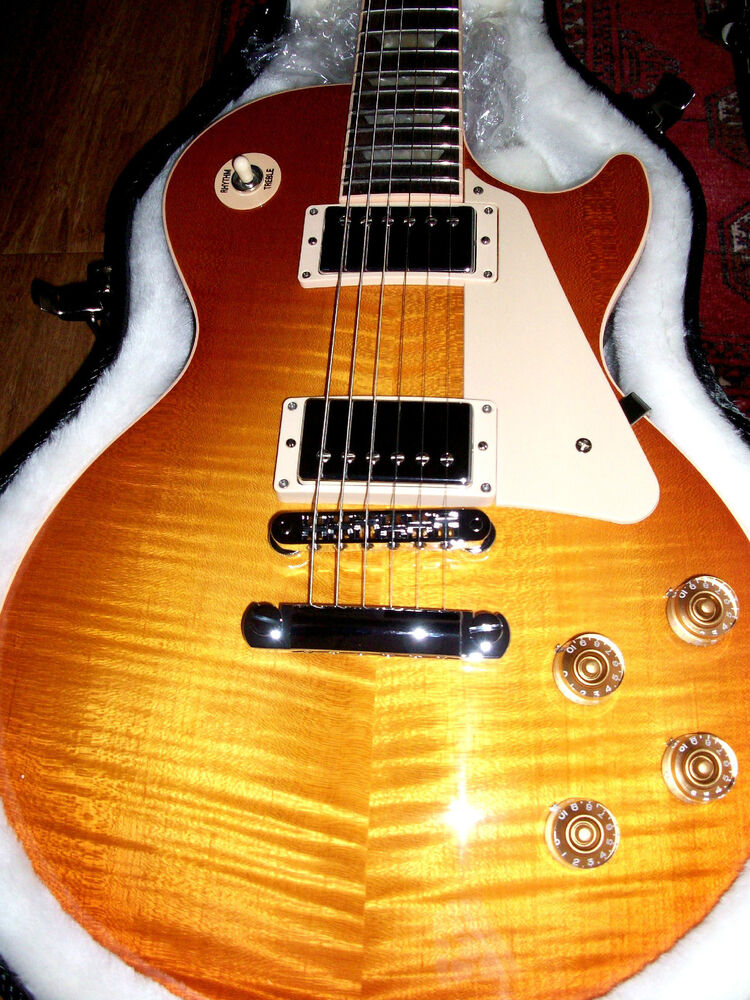 gibson les paul standard traditional light burst 2013 new no weight relief ebay. Black Bedroom Furniture Sets. Home Design Ideas